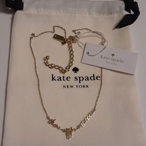 Kate Spade Out Of The Bag Cats Meow Necklace